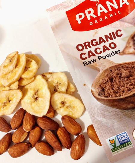 Cacao Powder Dried Bananas and Almonds