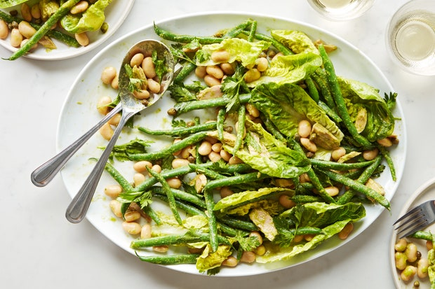 Green Bean + Tuna Salad with Basil Dressing