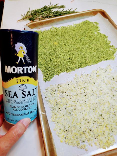 basil and lemon herbed salt