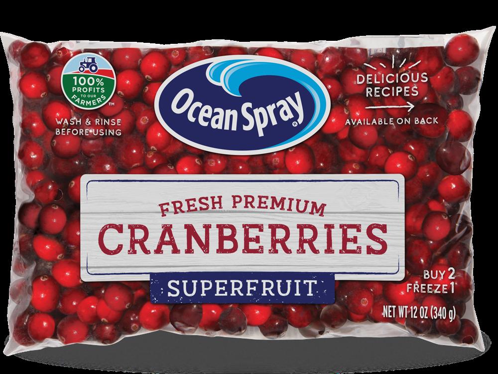 Bag of cranberries